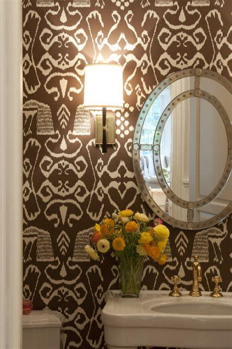 powder room wallpaper designer powder room with wallpaper simplified bee