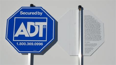 new 5 authentic adt home security alarm system yard sign