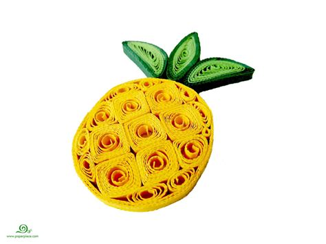 Paper Pineapple Craft - quilling pineapple quilled fruits quilling