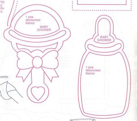 molde para hacer biberones de fomy figuras de baby shower en foami para imprimir hola