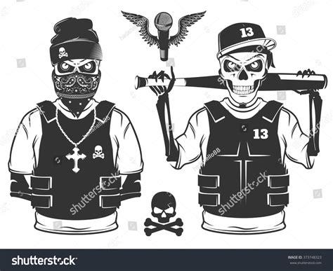 Jaket Hoodie Finger Rebel Id 1 Set Rap Skull Hip Hop Skeleton Stock Vector 373748323