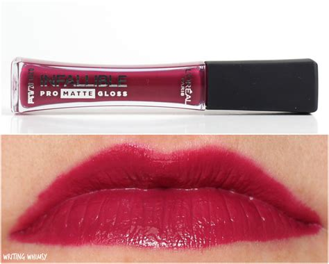 Loreal Infallible Pro Matte Gloss l oreal infallible pro matte gloss review and swatches writing whimsy