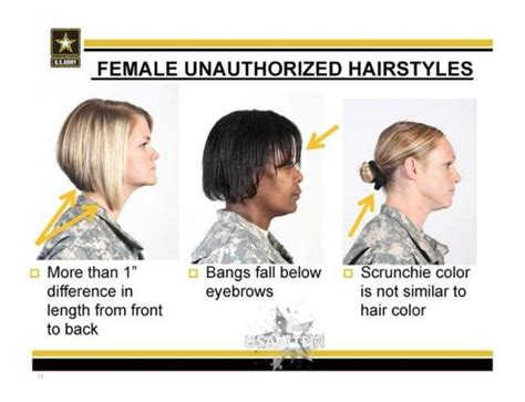 air force female minimum short hair army unauthorized hairstyles for women i still try to
