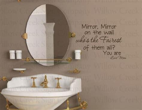 mirror on the wall fairest girl bathroom vinyl wall
