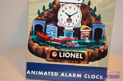 lionel 100th anniversary animated alarm clock oak