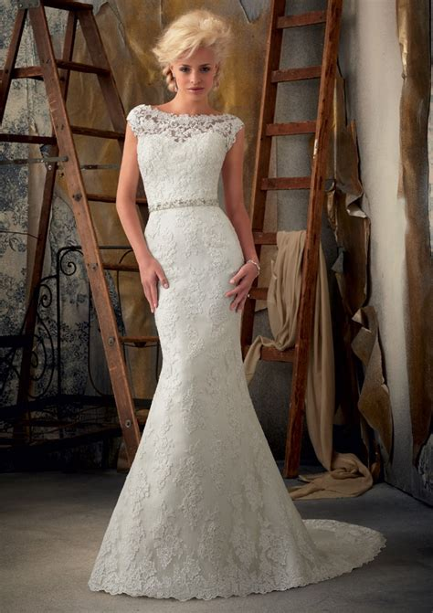 sweep brush train trumpet mermaid beading bateau lace wedding dresses rosa novias canada