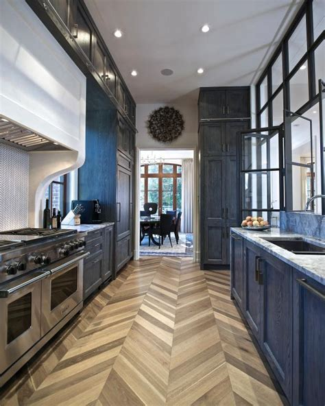 Transitional Kitchen Features Steel and Glass Wall   2015