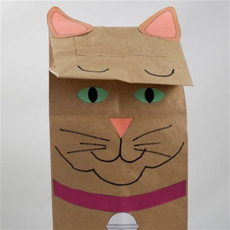 How To Make Paper Bag Puppets - how to make paper bag puppets cat and owl puppets