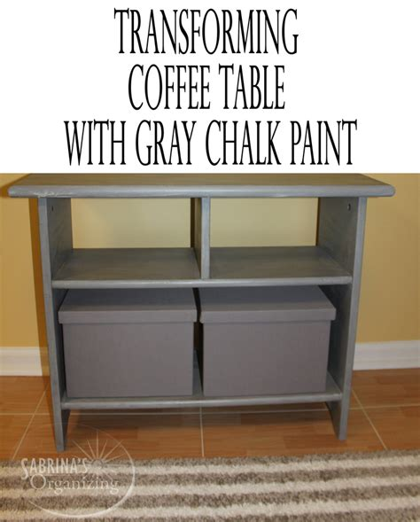 chalk paint coffee table transforming coffee table with gray chalk paint sabrina