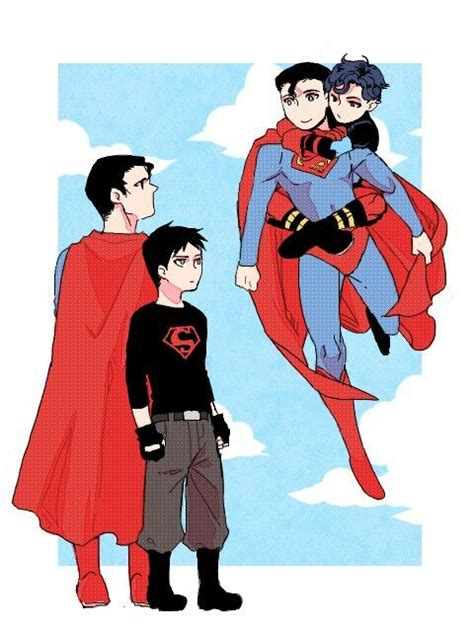 superman and superboy the man of steel fan art