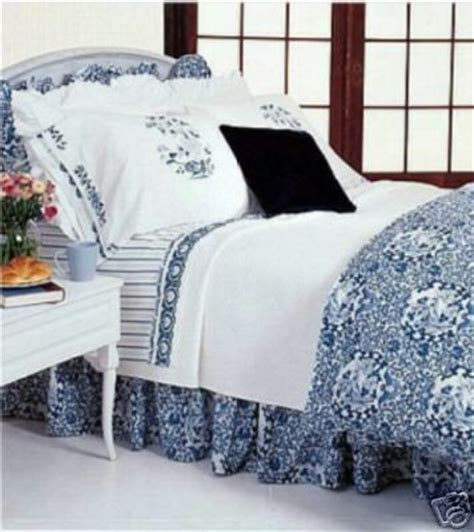 Ralph Blue Comforter by New Ralph Porcelain Blue Comforter Set 4pc Ebay