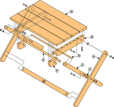 grill table plans free free folding tray woodworking plans from shopsmith