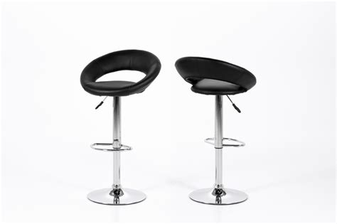 Quality Bar Stools by 2 X Plump Barstool Black Faux Leather Quality Bar Stool By Actona Set Of 2 Homestreet