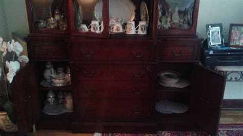 vintage cherry wood china cabinet antique solid dark wood china cabinet hutch seattle