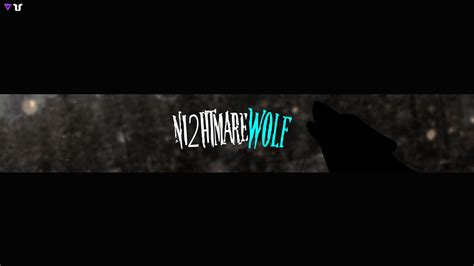design banner youtube ni2htmarewolf banner youtube banner design youtube