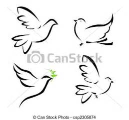 dessin de voler colombe illustration de voler
