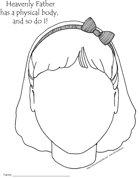 girl body coloring page mormon share heavenly father has a body girl