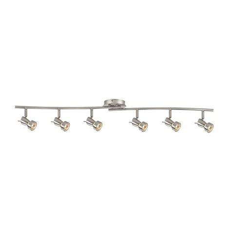 Bar Light Fixture Hton Bay 6 Light Brushed Nickel Ceiling Wall Dual Wave Bar Fixture Ec581sba The Home Depot