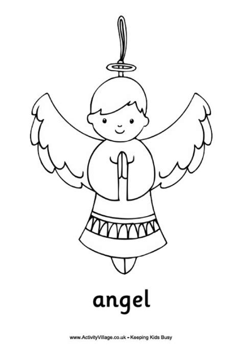 Angel colouring page log in or become a member to download
