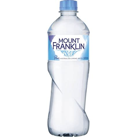 It List Water Bottle by Mount Franklin Water Bottle 600ml Woolworths