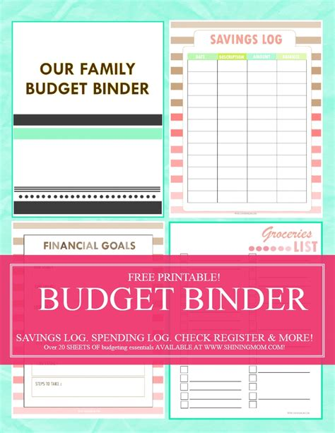 Monthly Budget Binder Printables Free
