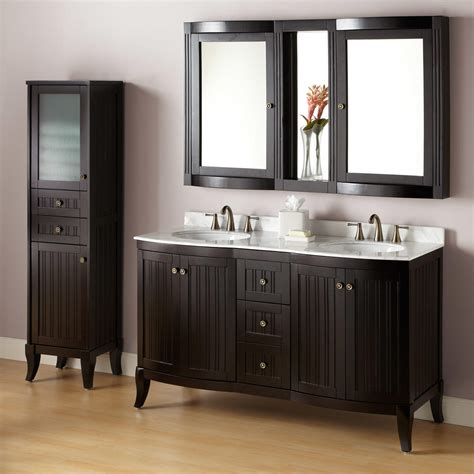 Espresso Bathroom Cabinets by 60 Quot Palmetto Espresso Vanity Bathroom
