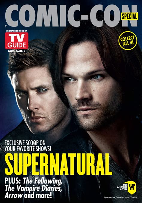 tv guide s supernatural page with tv listings sweetondean supernatural comic con 2014 tv guide cover