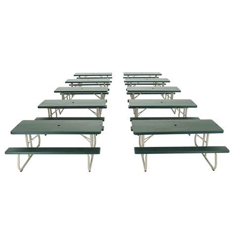 Lifetime Folding Picnic Table Lifetime 2123 Green Folding 6 Picnic Table 10 Pack On Sale Ships Free