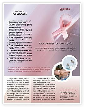 Breast Cancer Awareness Flyer Template Background In Microsoft Word Publisher And Illustrator Breast Cancer Brochure Template Free