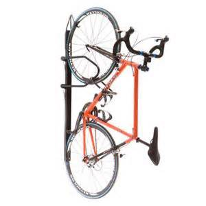 vertical wall mount bike rack with single bike capacity