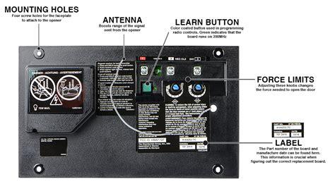liftmaster 41a4252 7g garage door opener circuit board
