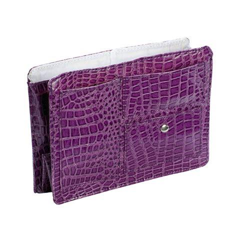 Littlekee Wallet Card Organizer Purple Croco small purple croco purse organizer with white lining