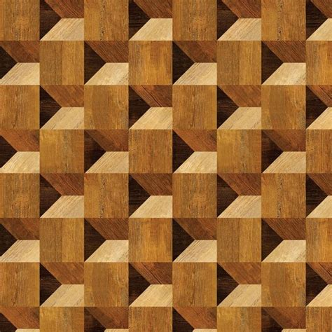 Square Meter To Square Feet by Cube Illusion Wood Veneer Pattern