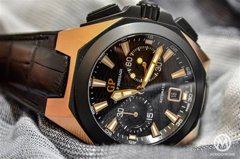 introducing the girard perregaux chrono hawk pink gold live photos pricing monochrome watches