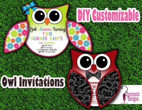free printable owl invitations templates free diy customizable owl invitation printable template on