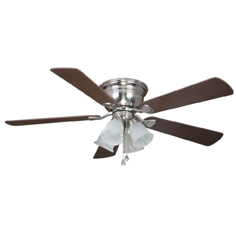lowes harbor fan 69 lowes harbor centerville 52 in brushed nickel