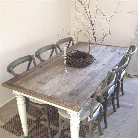 Shabby Chic Kitchen Table 6 Seats Brown Shabby Chic Kitchen Table Set Furniture Kitchen Table Sets