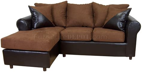 Chocolate Sectional Sofa Cinnamon Fabric Chocolate Bicast Contemporary Sectional Sofa