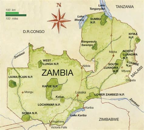 zambia map zambia global sojourns