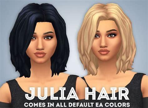 julia hair ivo sims sims  maxis match custom