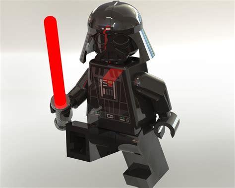 darth vader lego minifigure 3d model sldprt sldasm slddrw cgtrader