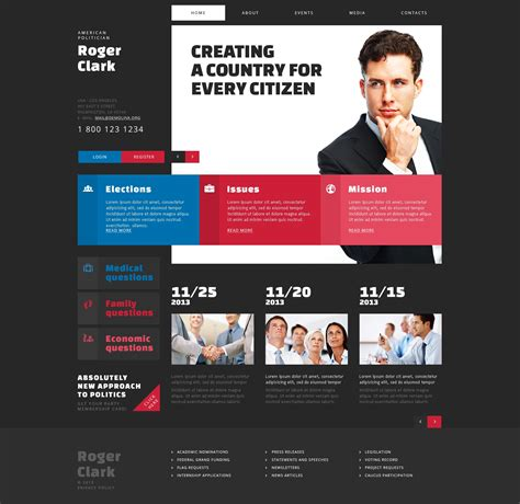 Political Candidate Joomla Template 46896 Candidate Website Template