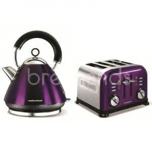 Yellow Kettle And Toaster Sets Morphy Richards 4 Slice Toaster Accents Plum Purple