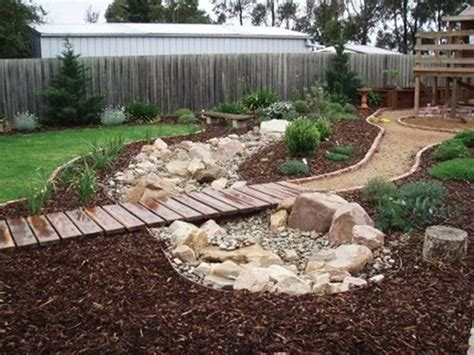 backyard creek ideas 50 super easy dry creek landscaping ideas you can make