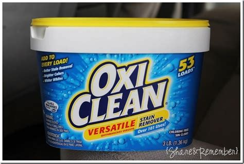 oxiclean versatile stain remover  car upholstery
