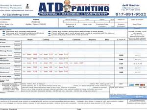 Painting Estimates Driverlayer Search Engine Exterior Paint Bid Template