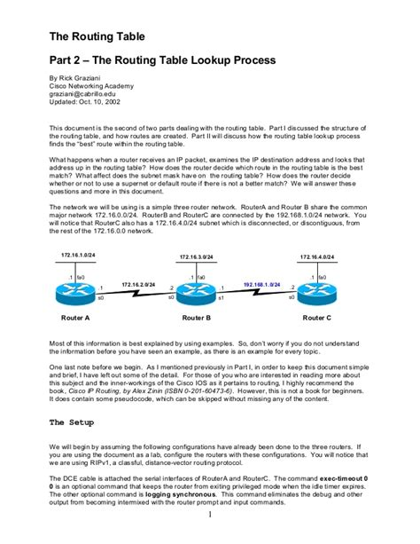 routing table cisco cisco routingtable2 lookup