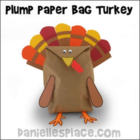 How To Make A Paper Bag Turkey - plump paper bag turkey craft from www daniellesplace