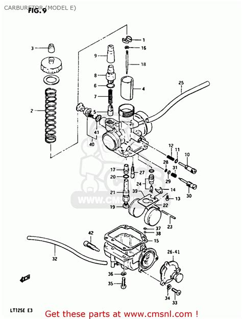 Suzuki Lt 125 Parts Suzuki Lt125 1983 D Carburetor Model E Schematic