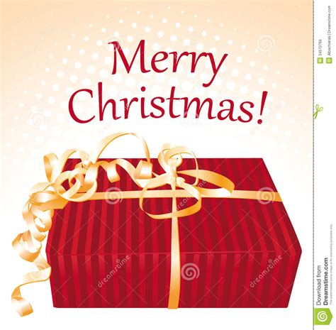 merry christmas gift box greeting card royalty free